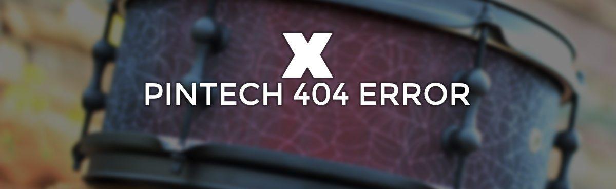 PINTECH 404 ERROR BANNER